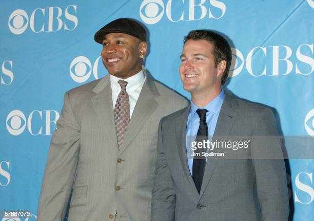 Actors LL Cool J and Chris O'Donnell attend the 2009 CBS Upfront at Terminal 5 on May 20 2009 in New York City