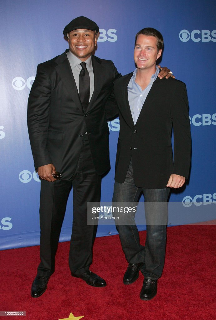 Actors LL Cool J and Chris O'Donnell attend the 2010 CBS Upfront at The Tent at Lincoln Center on May 19, 2010 in New York City.
