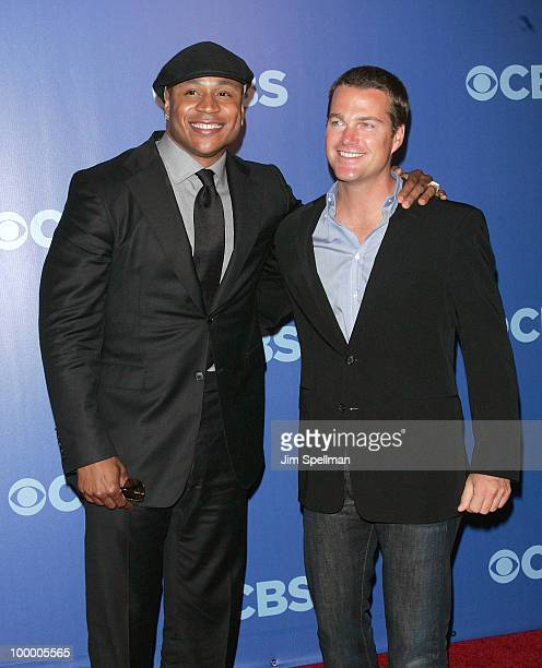 Actors LL Cool J and Chris O'Donnell attend the 2010 CBS Upfront at The Tent at Lincoln Center on May 19 2010 in New York City