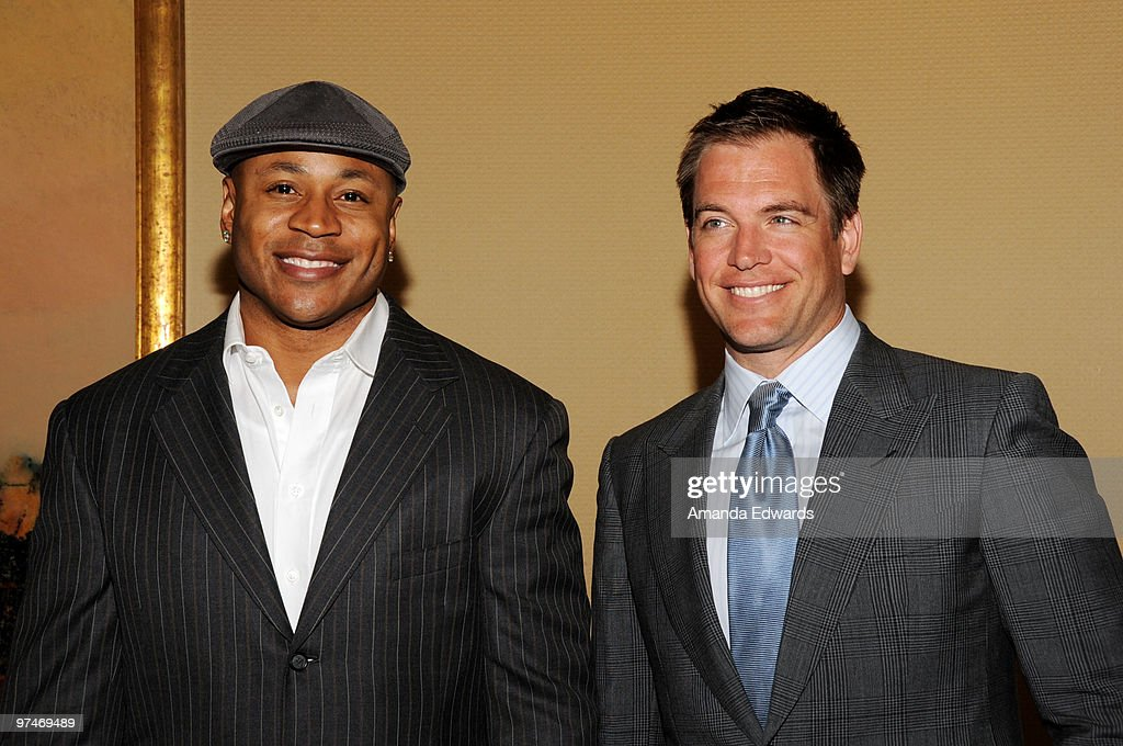 Actors LL Cool J (L) and Michael Weatherly (R) arrive at the 47th Annual ICG Publicists Awards at the Hyatt Regency Century Plaza on March 5, 2010 in Century City, California.
