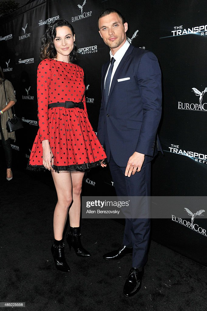 Actors Loan Chabanol (L) and Ed Skrein attend a special screening and after-party for EuropaCorp's 'The Transporter Refueled' held at The Playboy Mansion on August 25, 2015 in Los Angeles, California.
