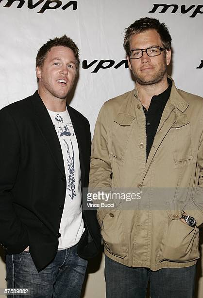 Actors Lochlyn Munro and Michael Weatherly attend the Music Video Production Association's 15th Annual MVPA Awards at the Orpheum Theatre on May 11...