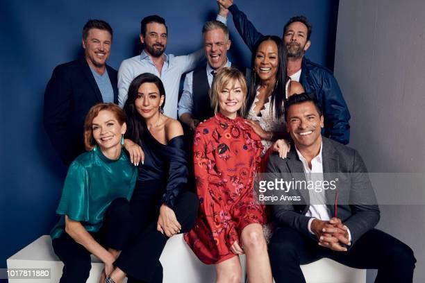 Actors Lochlyn Munro Skeet Ulrich Martin Cummins Robin Givens Luke Perry Nathalie Boltt Marisol Nichols Mädchen Amick and Mark Consuelos of CW's...