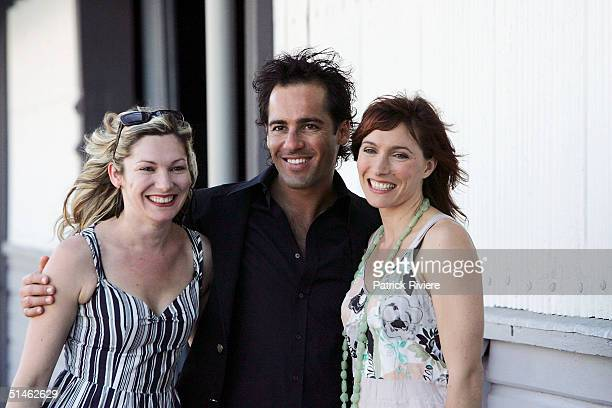 Actors Loene Carmen Alex Dimitriades and Claudia Karvan attend the Lexus IF Awards Nomination Launch at Doltone House October 11 2004 in Sydney...