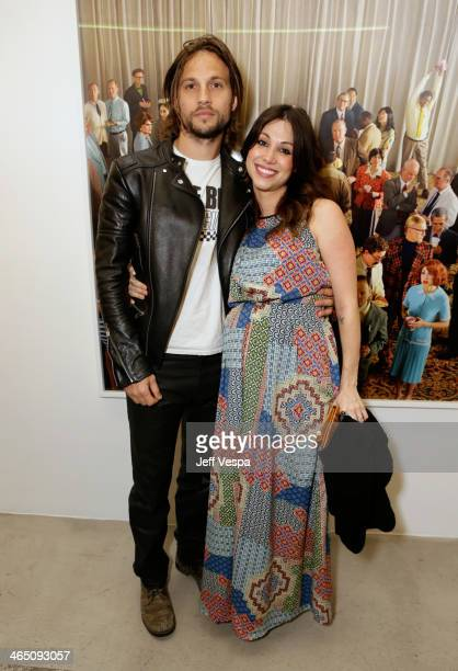 Actors Logan MarshallGreen and Diane MarshallGreen attend Alex Prager Face In The Crowd Exhibition Opening Night Reception at MB Gallery on January...