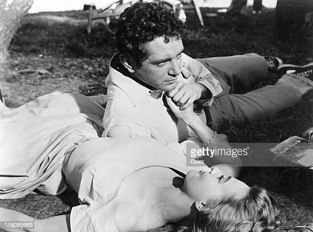 Actors Lola Albright and Scott Marlowe star in the drama 'A Cold Wind In August' directed by Alexander Singer 1961