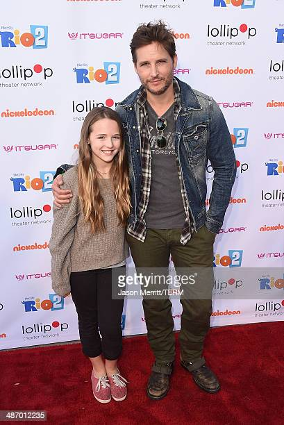 Actors Lola Ray Facinelli and Peter Facinelli attend the Lollipop Theater Network's Night Under The Stars Screening Of Twentieth Century Fox's Rio 2...