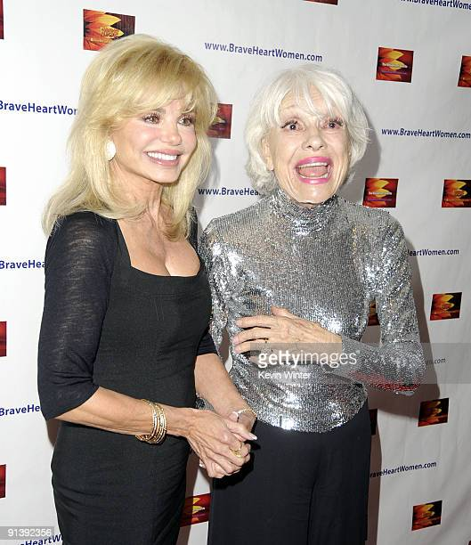 Actors Loni Anderson and Carol Channing arrive at the BraveHeart Awards for Brave Hearts at The Westin Hotel LAX on October 3 2009 in Los Angeles...