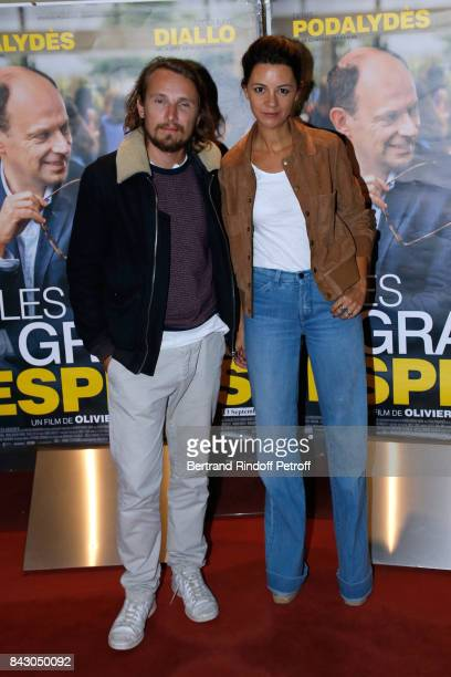 Actors Lorant Deutsch and his wife MarieJulie Baup attend the 'Les grands Esprits' Paris Premiere at UGC Cine Cite des Halles on September 5 2017 in...