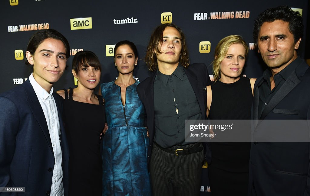 Actors Lorenzo James Henrie, Elizabeth Rodriguez, Mercedes Mason, Frank Dillane, Kim Dickens and Cliff Curtis attend AMC, ET And Tumblr's 'Fear The Walking Dead' Event during Comic-Con International 2015 on July 10, 2015 in San Diego, California.