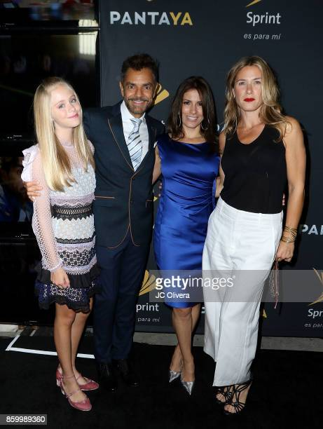 Actors Loreto Peralta Eugenio Derbez Alessandra Rosaldo and Jessica Lindsey attend PANTAYA Launch Party at Boulevard3 on October 10 2017 in Hollywood...