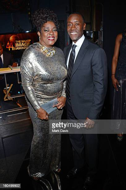 Actors Loretta Devine and Don Cheadle attend the 44th NAACP Image Awards at The Shrine Auditorium on February 1 2013 in Los Angeles California