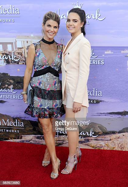 Actors Lori Loughlin and Bailee Madison arrive at the Hallmark Channel and Hallmark Movies and Mysteries Summer 2016 TCA Press Tour Event on July 27...