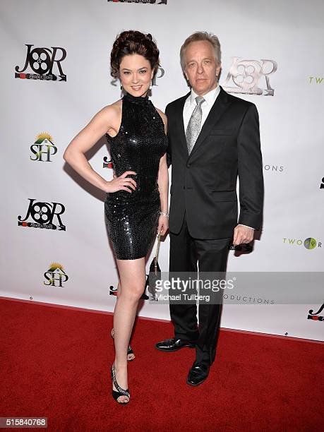 Actors Lorissa Julianus and Craig Angel attend the premiere of JR Productions' Halloweed at TCL Chinese 6 Theatres on March 15 2016 in Hollywood...