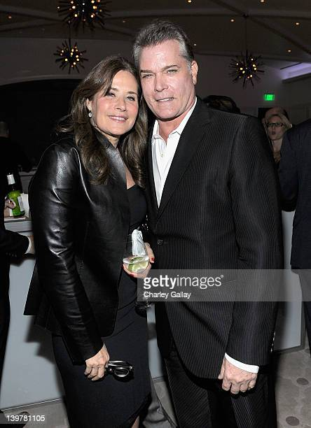 Actors Lorraine Bracco and Ray Liotta attend the Vanity Fair and Richard Mille celebration of Martin Scorsese in support of The Film Foundation at...