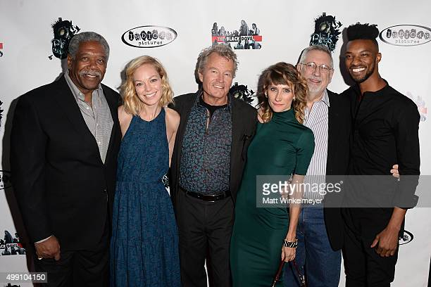 Actors Lou Beatty Jr Abby Wathen John Savage Mia Caporale director Michael Caporale and actor Phillip Latham arrive at the premiere of Indian...
