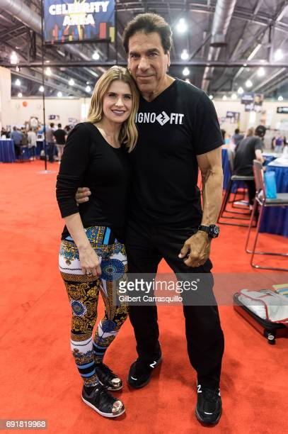 Actors Lou Ferrigno and Kristy Swanson attend Wizard World Comic Con Philadelphia 2017 - Day 2 at Pennsylvania Convention Center on June 2, 2017 in...