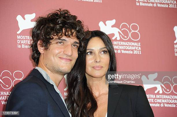 Actors Louis Garrel and Monica Bellucci attend the 'Un ete brulant' Photocall during the 68th Venice International Film Festival at Palazzo del...