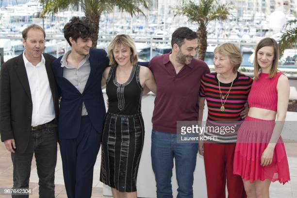 Actors Louis Garrel, Marisa Borini, director Valeria Bruni Tedeschi, actress Celine Sallette and actor Filippo Timi attend the photocall for 'Un...