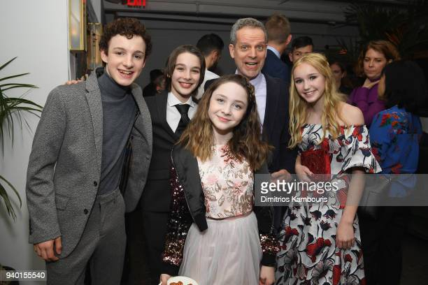 Actors Louis Hynes Dylan Kingwell Kitana Turnbull Patrick Breen and Avi Lake attend the Netflix Premiere of 'A Series of Unfortunate Events' Season 2...