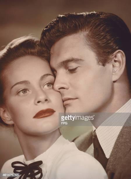 Actors Louis Jourdan and Alida Valli star in the film 'The Paradine Case' 1947