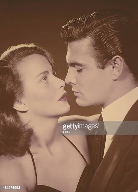 Actors Louis Jourdan and Alida Valli star in the film 'The Paradine Case' 1947