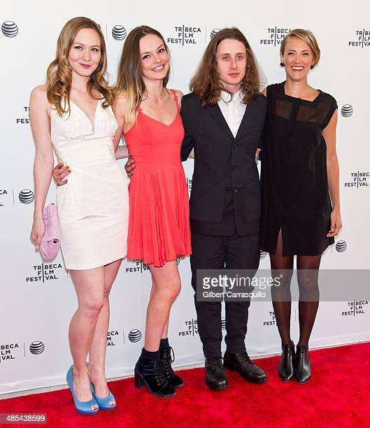 Actors Louisa Krause Emily Meade Rory Culkin and Alexia Rasmussen attend the 2014 Tribeca Film Festival screening of 'Gabriel' at SVA Theater on...