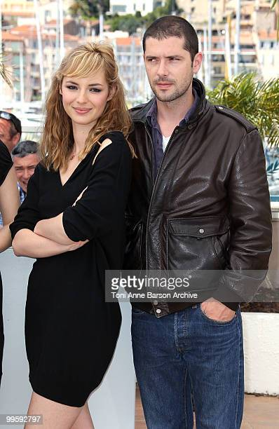 Actors Louise Bourgoin and Melvil Poupaud attends the 'Black Heaven' Photo Call held at the Palais des Festivals during the 63rd Annual International...
