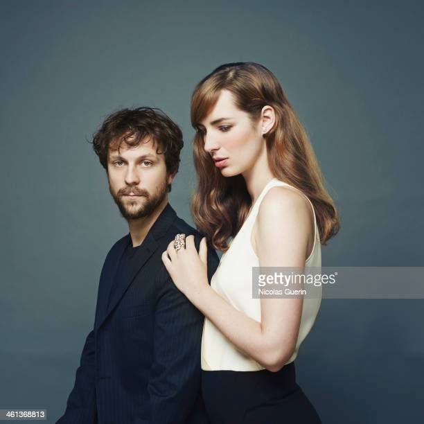 Actors Louise Bourgoin and Pierre Rochefort are photographed for Self Assignment on December 9 2013 in Paris France