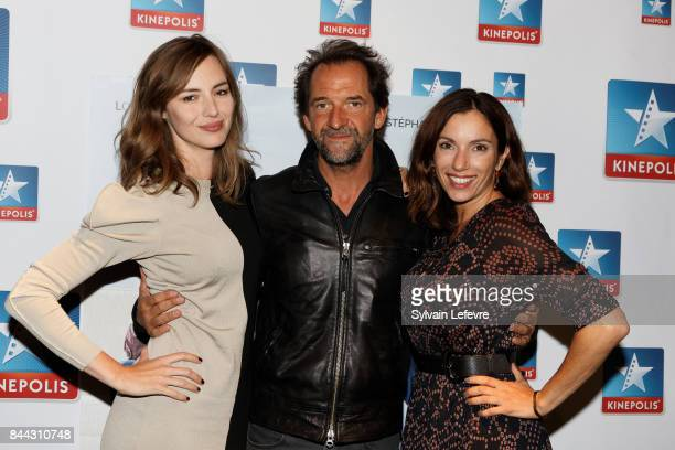 Actors Louise Bourgoin Stephane De Groodt and Aure Atika attend L'un Dans L'Autre Lille Premiere at Lomme Kinepolis on September 8 2017 in Lille...