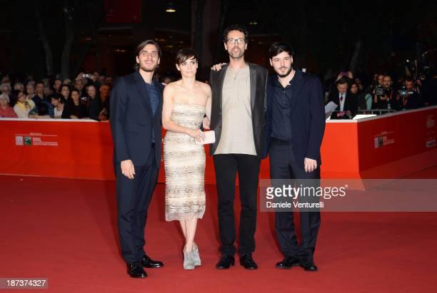 Actors Luca Marinelli, actress Camilla Filippi, director Alessandro Lunardelli and actor Filippo Scicchitano attend 'Il Mondo Fino In Fondo' Premiere...