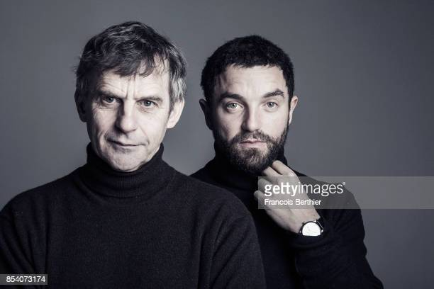 Actors Lucas Belvaux and Guillaume Gouix are photographed for Self Assignment on January 19 2017 in Paris France