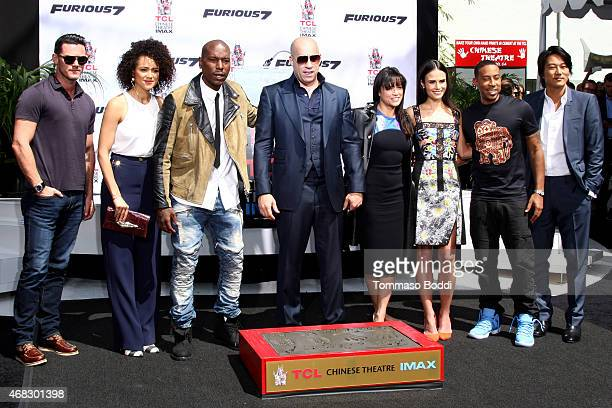 Actors Lucas Black Nathalie Emmanuel Tyrese Gibson Vin Diesel Michelle Rodriguez Jordana Brewster Ludacris and Tatchakorn Yeerum attend the TCL...