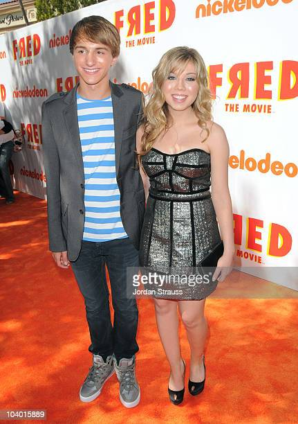 Actors Lucas Cruikshank and Jennette McCurdy attend Nickelodeon's Fred The Movie premiere screening event at Paramount Theater on September 11 2010...