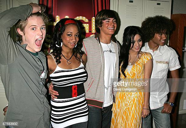 Actors Lucas Grabeel Monique Coleman Zac Efron Vanessa Anne Hudgens and Corbin Bleu attend a QA session with the cast and producers of the Disney...