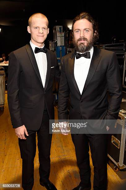 Actors Lucas Hedges and Casey Affleck attend The 23rd Annual Screen Actors Guild Awards at The Shrine Auditorium on January 29 2017 in Los Angeles...