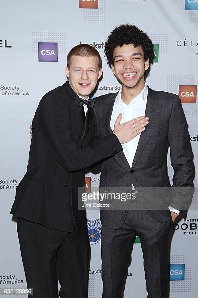 Actors Lucas Hedges and Justice Smith attends the 32nd Annual Artios Awards at Stage 48 on January 19 2017 in New York City