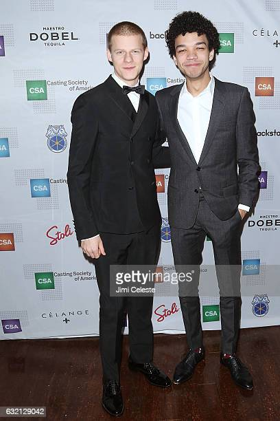Actors Lucas Hedges and Justice Smith attends the 32nd Annual Artios Awards at Stage 48 on January 19, 2017 in New York City.