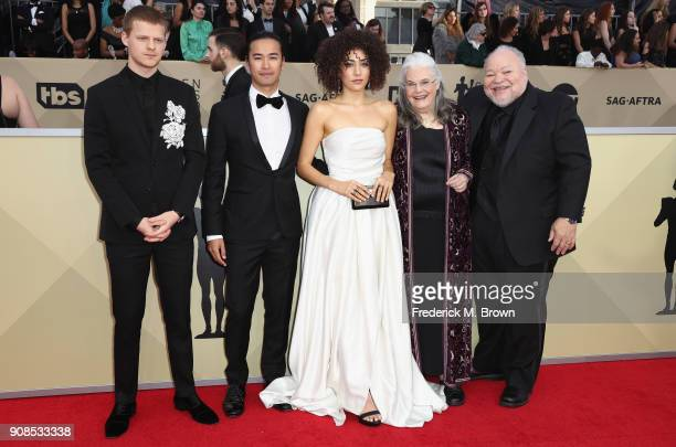 Actors Lucas Hedges Jordan Rodrigues Marielle Scott Lois Smith and Stephen Henderson attend the 24th Annual Screen Actors Guild Awards at The Shrine...