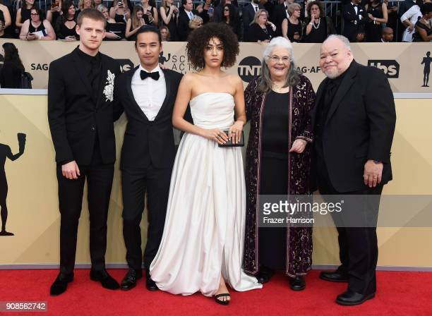 Actors Lucas Hedges Jordan Rodrigues Marielle Scott Lois Smith and Stephen Henderson attend the 24th Annual Screen ActorsGuild Awards at The Shrine...