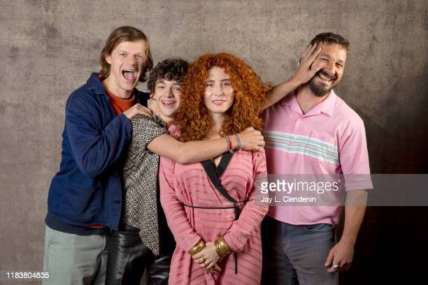 Actors Lucas Hedges Noah Jupe director Alma Har'el and Shia LaBeouf from 'Honey Boy' are photographed for Los Angeles Times on September 9 2019 at...