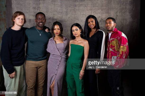 Actors Lucas Hedges Sterling K Brown Taylor Russell Alexa Demi Renee Elise Goldsberry and Kelvin Harrison Jr from 'Waves' are photographed for Los...