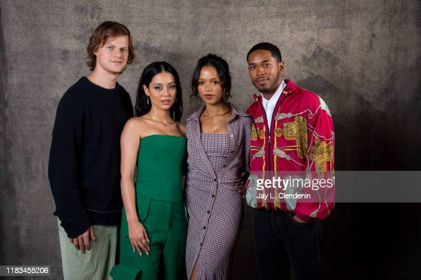 Actors Lucas Hedges Taylor Russell Alexa Demi and Kelvin Harrison Jr from 'Waves' are photographed for Los Angeles Times on September 10 2019 at the...