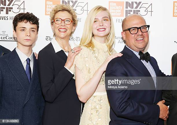 Actors Lucas Jade Zumann Annette Bening and Elle Fanning and producer Youree Henley attend the premiere of 20th Century Women at the 54th New York...