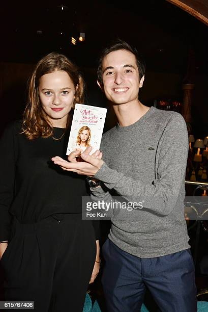 actors Lucie Fagedet and Orfeo CampanellaÊattend L'Art du Bien Etre Et Ailleurs Dans Ton Coeur Amelie Etasse and Clement Vallos Book Launching at...