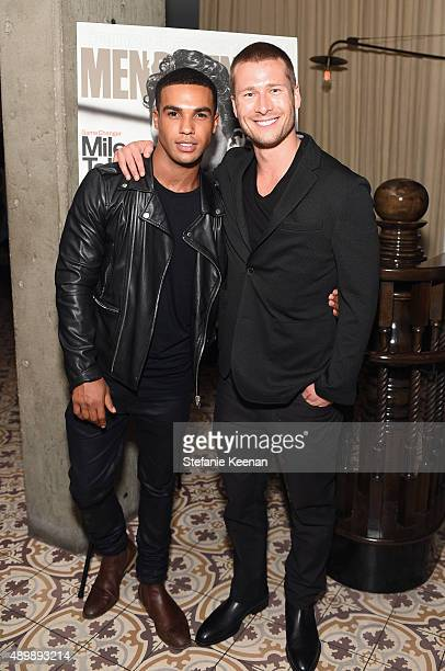 Actors Lucien Laviscount and Glen Powell attend MEN'S FITNESS Celebration of The 2015 Game Changers on September 24 2015 in West Hollywood California