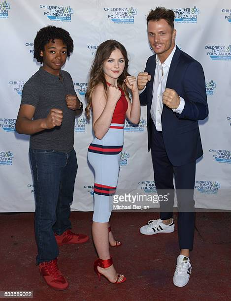Actors Lucky Davis Chiara Aurelia and Tyler Dash White at Kids Fashions For NF Heroes For A Heart Cure on May 22 2016 in Los Angeles California