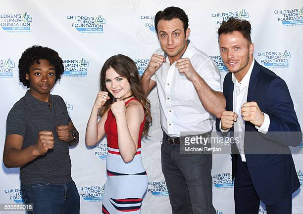 Actors Lucky Davis Chiara Aurelia Jonathan Sadowski and Tyler Dash White at Kids Fashions For NF Heroes For A Heart Cure on May 22 2016 in Los...