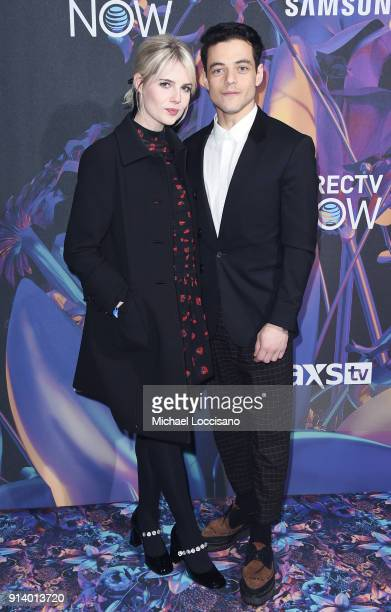 Actors Lucy Boynton and Rami Malek attend the 2018 DIRECTV NOW Super Saturday Night Concert at NOMADIC LIVE at The Armory on February 3 2018 in...