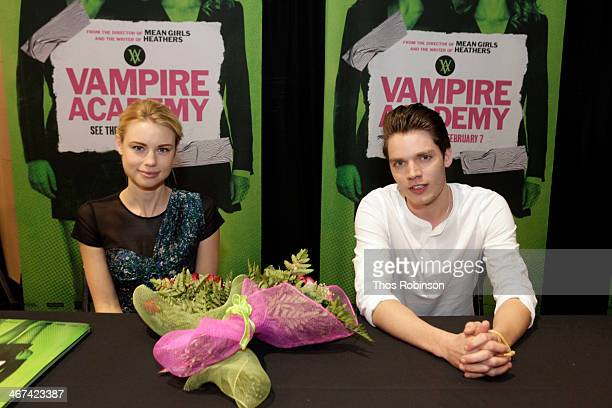Actors Lucy Fry and Dominic Sherwood attend The Cast Of 'Vampire Academy' Meet Fans at Westfield Garden State Mall on February 6 2014 in New Jersey